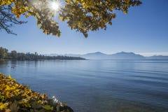Λίμνη Chiemsee το φθινόπωρο Στοκ φωτογραφίες με δικαίωμα ελεύθερης χρήσης