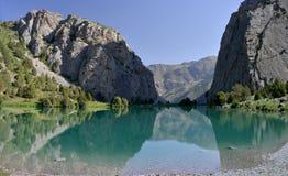 Λίμνη Chukurak - βουνά Fann, Τατζικιστάν Στοκ Εικόνες