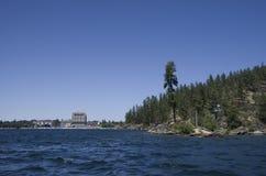 Λίμνη Coeur dAlene Αϊντάχο κοντά στο Spokane Ουάσιγκτον Στοκ εικόνες με δικαίωμα ελεύθερης χρήσης