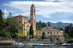 Λίμνη Como εκκλησιών στοκ φωτογραφίες