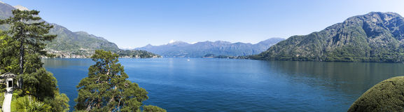 Λίμνη Como, εποχή τοπίων την άνοιξη Στοκ Εικόνα