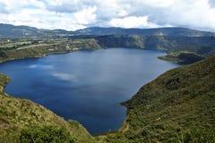 Λίμνη Cuicocha - Ισημερινός στοκ εικόνα