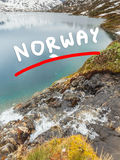 Λίμνη Djupvatnet, Νορβηγία Στοκ φωτογραφίες με δικαίωμα ελεύθερης χρήσης