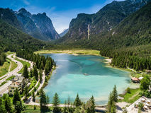 Λίμνη Dobbiaco στοκ εικόνες