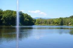 Λίμνη Dumbrava από το Sibiu, Ρουμανία Στοκ Φωτογραφίες