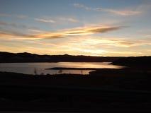 Λίμνη dusk Στοκ Εικόνες