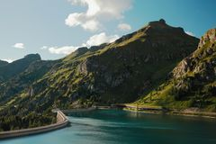 Λίμνη Fedaia Στοκ Εικόνες