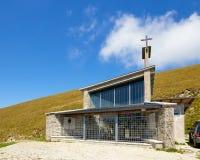 Λίμνη Garda Monte Baldo Ιταλία - 15 Αυγούστου 2017: τουρίστες στην κορυφή του βουνού σε έναν καφέ Στοκ εικόνα με δικαίωμα ελεύθερης χρήσης