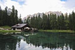 Λίμνη Ghedina Στοκ εικόνα με δικαίωμα ελεύθερης χρήσης
