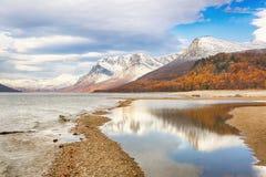 Λίμνη Gjevillvatnet, Νορβηγία στοκ φωτογραφίες