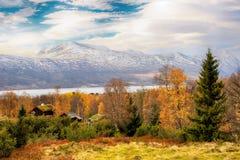 Λίμνη Gjevillvatnet, Νορβηγία στοκ φωτογραφία