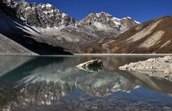 Λίμνη Gokio στο Νεπάλ Στοκ Εικόνες