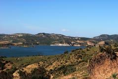 Λίμνη Guadalteba, Ανδαλουσία, Ισπανία. Στοκ εικόνες με δικαίωμα ελεύθερης χρήσης