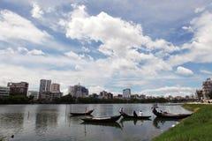 Λίμνη Gulshan σε Dhaka στοκ εικόνες