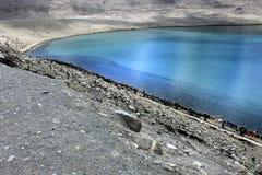 Λίμνη Gurudongmar, βόρειο Sikkim, Ινδία Στοκ Φωτογραφίες
