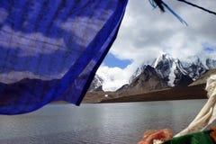Λίμνη Gurudongmar, βόρειο Sikkim, Ινδία Στοκ Φωτογραφία