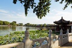 Λίμνη Houhai, Πεκίνο, Κίνα Στοκ Φωτογραφία
