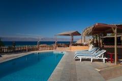 Λίμνη iat το ξενοδοχείο Άκαμπα Ιορδανία Στοκ Εικόνα