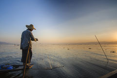 Λίμνη Inle, το Μιανμάρ. Στοκ Φωτογραφίες