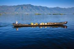Λίμνη Inle, το Μιανμάρ. Στοκ Εικόνες
