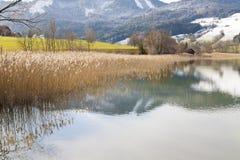 Λίμνη Irrsee, βόρεια Αυστρία Στοκ Εικόνες