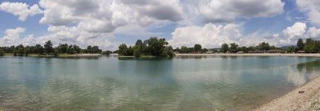 Λίμνη Jarun στο Ζάγκρεμπ, Κροατία Στοκ φωτογραφία με δικαίωμα ελεύθερης χρήσης