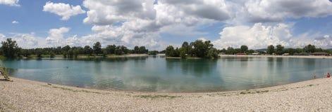 Λίμνη Jarun στο Ζάγκρεμπ, Κροατία Στοκ Φωτογραφία