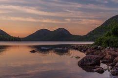 Λίμνη Jodan στο ηλιοβασίλεμα Στοκ φωτογραφίες με δικαίωμα ελεύθερης χρήσης