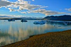 Λίμνη Jokulsarlon, Ισλανδία Στοκ Εικόνα
