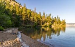 Λίμνη Kalamalka στη Βρετανική Κολομβία Στοκ Εικόνες