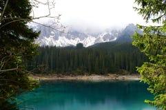 λίμνη karer της Ιταλίας Στοκ φωτογραφίες με δικαίωμα ελεύθερης χρήσης