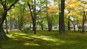 Λίμνη Kasumiga-kasumiga-ike στον κήπο Kenrokuen σε Kanazawa φιλμ μικρού μήκους