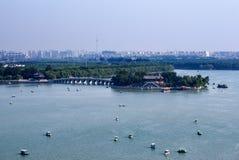 Λίμνη Kunming στον κήπο θερινών παλατιών Στοκ Εικόνα