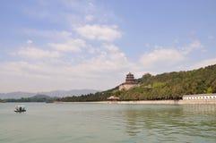 Λίμνη Kunming στο θερινό παλάτι Στοκ Εικόνα