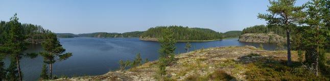 Λίμνη ladoga, Καρελία Στοκ Εικόνες