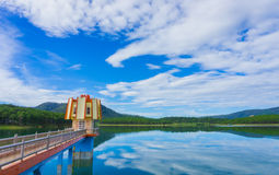 Λίμνη Lam Tuyen, Dalat, Βιετνάμ στοκ φωτογραφίες