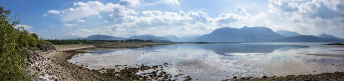 Λίμνη Linnhe στο σημείο Sallachan με την άποψη προς Onich και Glencoe Στοκ φωτογραφίες με δικαίωμα ελεύθερης χρήσης
