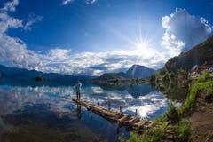 Λίμνη Lugu Στοκ φωτογραφίες με δικαίωμα ελεύθερης χρήσης