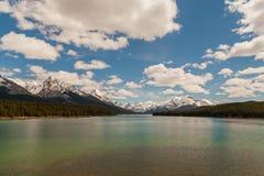 Λίμνη Maligne, Αλμπέρτα, Καναδάς στοκ εικόνα με δικαίωμα ελεύθερης χρήσης