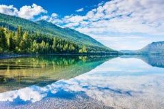 Λίμνη McDonald, εθνικό πάρκο παγετώνων, Μοντάνα, ΗΠΑ Στοκ εικόνες με δικαίωμα ελεύθερης χρήσης