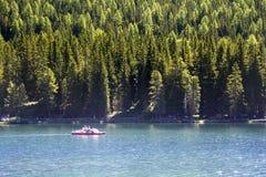 Λίμνη Misurina Στοκ Εικόνες