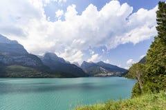 Λίμνη Molveno στην Ιταλία Στοκ εικόνες με δικαίωμα ελεύθερης χρήσης