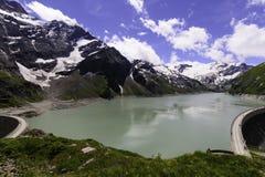 Λίμνη Mooserboden στοκ φωτογραφία
