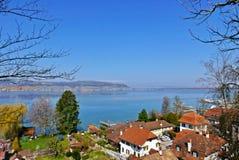 Λίμνη Morat Στοκ φωτογραφία με δικαίωμα ελεύθερης χρήσης