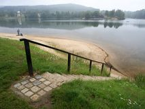 Λίμνη Mseno, NAD Nisou, Δημοκρατία της Τσεχίας Jablonec στοκ εικόνα με δικαίωμα ελεύθερης χρήσης