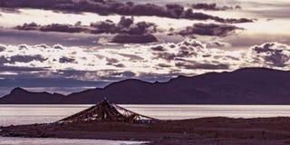 Λίμνη Namtso, Θιβέτ Στοκ Φωτογραφία