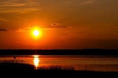 Λίμνη Necko, Πολωνία, Masuria, podlasie Στοκ Εικόνες
