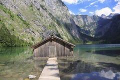 Λίμνη Obersee, Βαυαρία, Γερμανία Στοκ φωτογραφίες με δικαίωμα ελεύθερης χρήσης