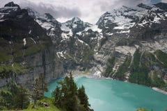 Λίμνη Oeschinensee, Ελβετία Στοκ εικόνες με δικαίωμα ελεύθερης χρήσης