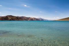 Λίμνη Pangong σε Ladakh, Ινδία Στοκ εικόνες με δικαίωμα ελεύθερης χρήσης